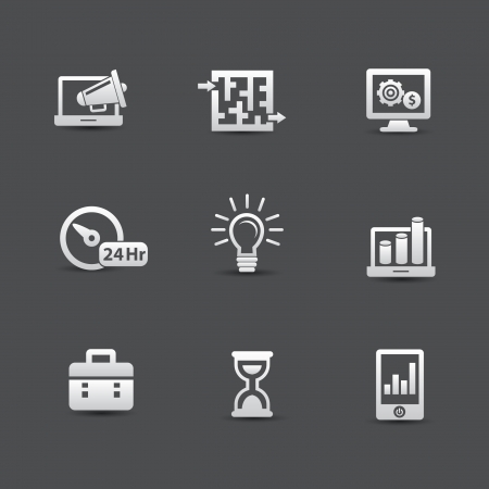 subsidiary company: Business management icons,vector