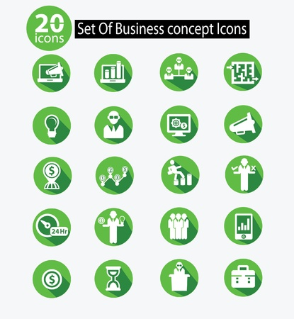 Human resource,Business concept icons,Green version,vector Stock Vector - 21569628