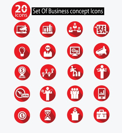 Human resource,Business concept icons,Red version,vector Vector