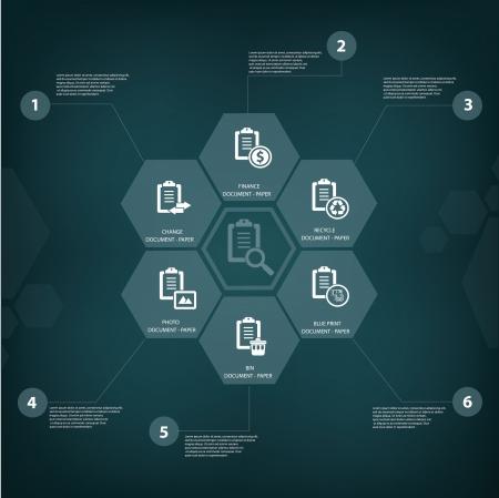 Document concept,vector