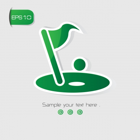 Golf symbol,vector Vector