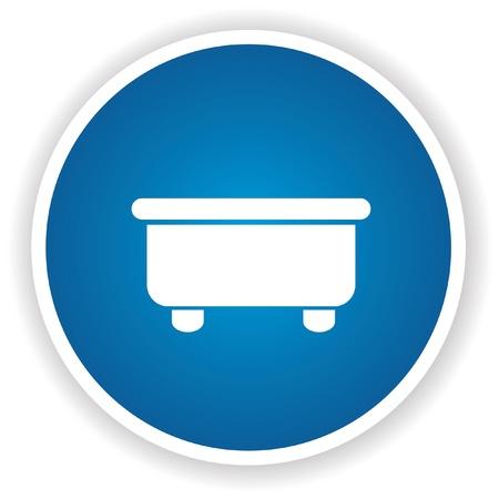 Bathroom symbol,Blue button,vector Stock Vector - 21569718