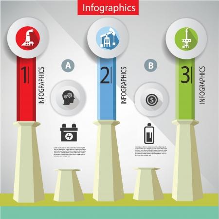 Industrial infographics,design ,vector Stock Vector - 21914381