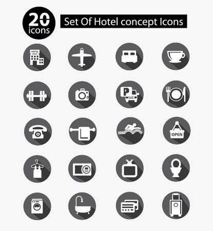 Hotel   Travel icons,Gray version,vector Stock Vector - 21914389