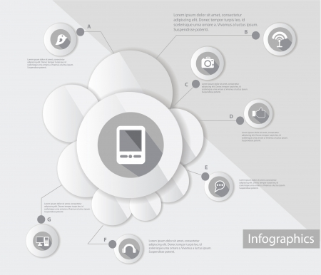 Mobile phone and technology,Infograp hic design,vector Vector