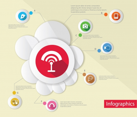 Wireless and technology,Infograp hic design,vector Vector