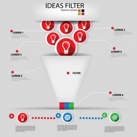 filters: Ideas filter,Business concept,Graphics design