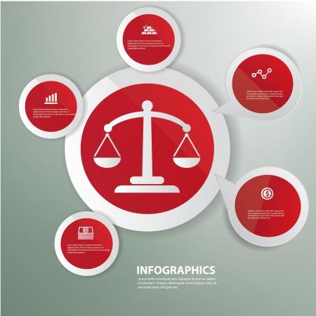 justice scales: Equilibrio, Rojo abstracto, dise�o de gr�ficos, vector