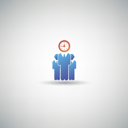 Time human resource symbol,vector Vector