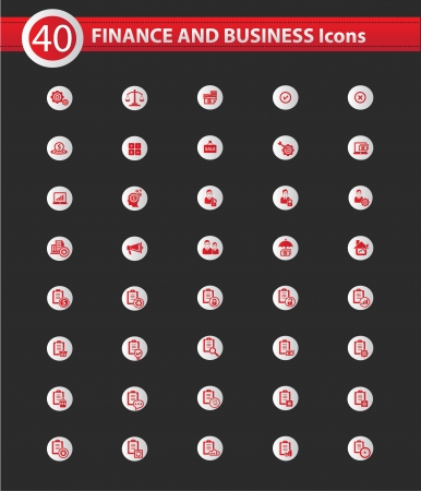 Finance and business concept icons