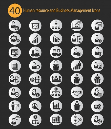 tribunal: Human resource,Business concept icons,vector
