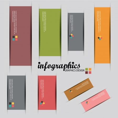phonographic: Colorful label,for infographics design,vector