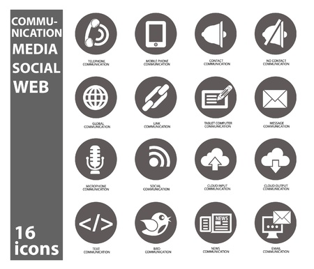 Communication and Social icons,vector Vector