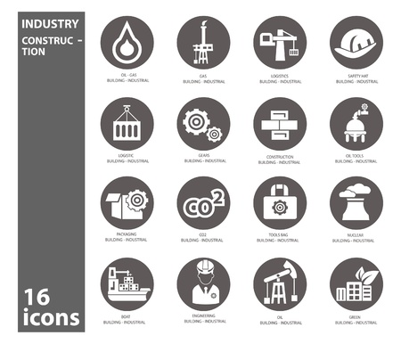 Industry icons,vector Stock Vector - 22098283