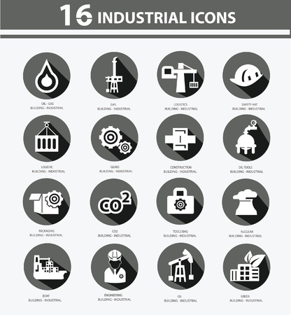 gas lamp: Industrial,Factory, plants and pollution icons,Black version