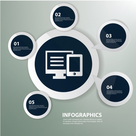 personal data assistant: Computer and mobile phone,Graphics design,vector