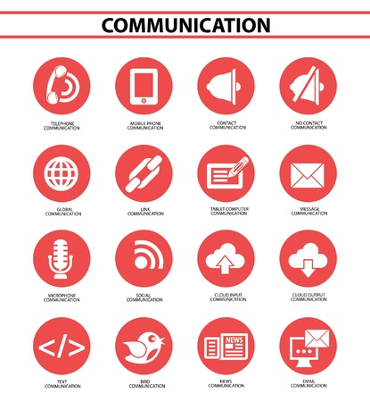 Communication and Social icons,vector Stock Vector - 22154711
