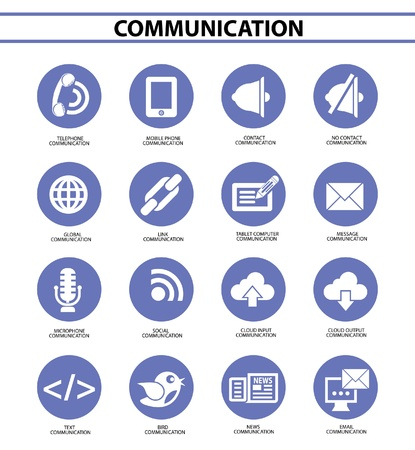 Communication and Social icons,vector Stock Vector - 22154721