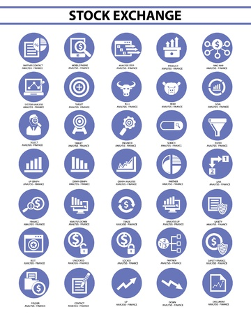 converter: Stock exchange icon set,Blue version,vector