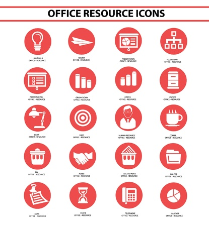 Office resource,Red circle version Stock Vector - 22090608
