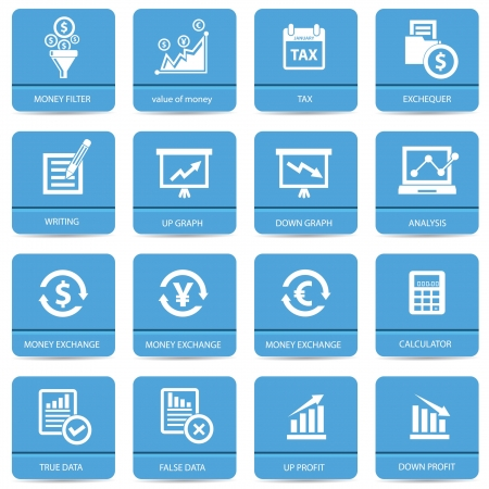 Economics icons,Blue version,vector Stock Vector - 22098318