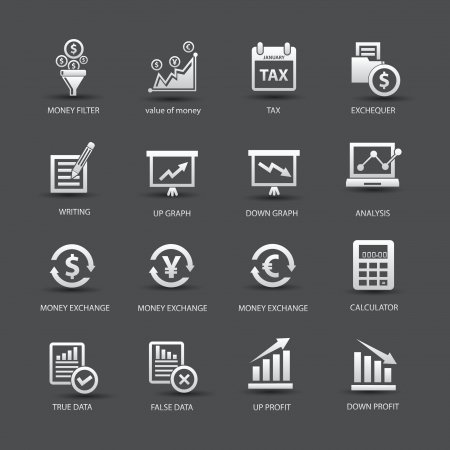 value: Finance analysis icons,Colorful version,vector