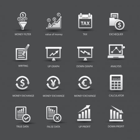 valor: Iconos an�lisis de Finanzas, versi�n colorida, vector Vectores
