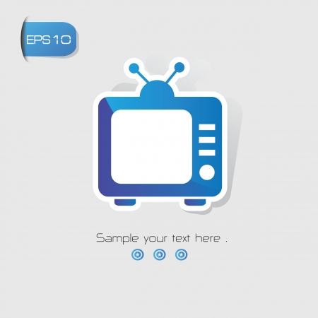 Television symbol,vector Stock Vector - 22098322