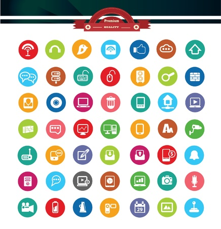 Web icons,Colorful version,vector Stock Vector - 22154726
