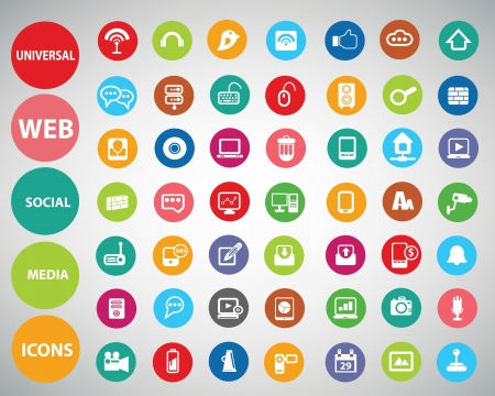 web icons: Web icons,Colorful version,vector Illustration