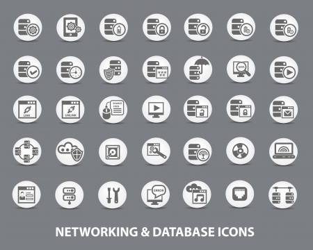 Networking and Database Icons,vector Stock Vector - 22098324