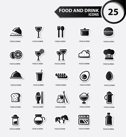 lo mein: Food and Restaurant icons set,Black version,vector Illustration