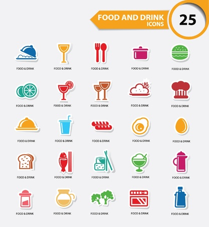 cocktail mixer: Food and Restaurant icons set,Colorful version,vector