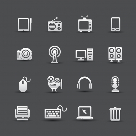 Website icons,Technology object,vector Stock Vector - 22154903
