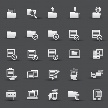 Documents icons,vector Vector
