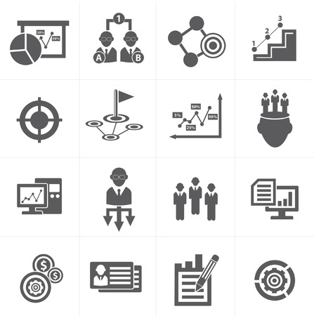 risk management: Business management icons Illustration