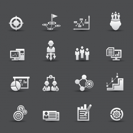 Strategy business concept icons Vector