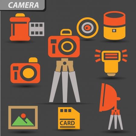 polarizing: Camera set symbol