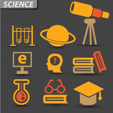 thinking student: Science symbol