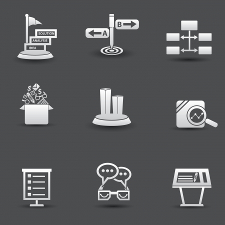 Solution and Business concept icons Vector