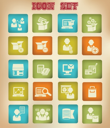 Service and Marketing icons,Vintage version Vector