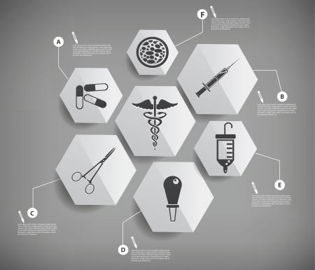 emergencia medica: Dise�o de infograf�as M�dico, gris suave