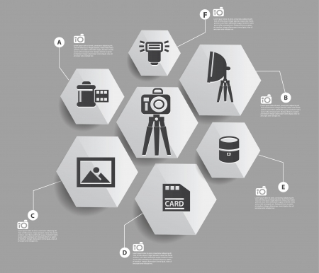 Camera set infographics design Stock Vector - 22444591