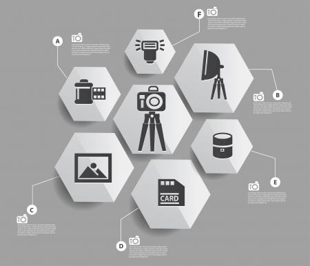 Camera set infographics design Stock Vector - 22444591
