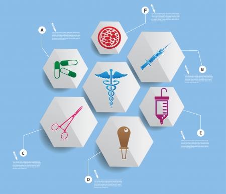 emergencia medica: Dise�o Infograf�a m�dica Vectores