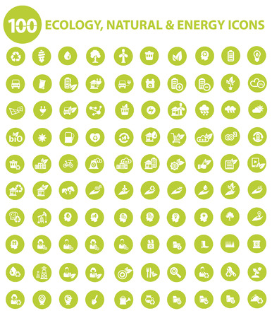 Natural and Ecology icons,Green version,vector Ilustração