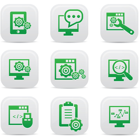 SEO icons on buttons Vector