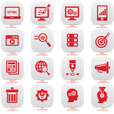 Web advertise icons,Blue version,vector Vector