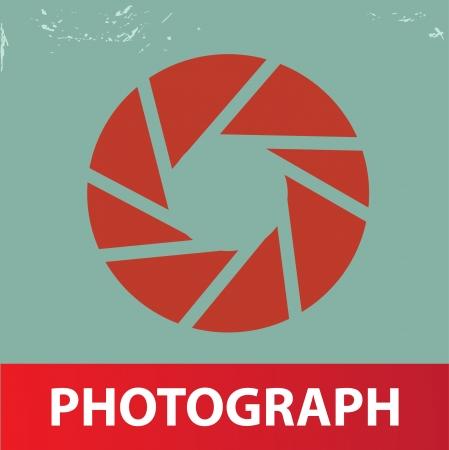Photograph symbol,vintage style,vector