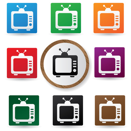 switcher: Television symbol,Color buttons,vector